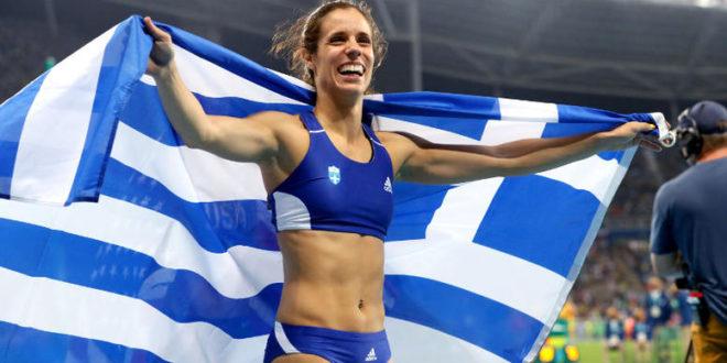 Η Κατερίνα Στεφανίδη με Χρυσό μετάλλιο στο Άλμα επί κοντώ γυναικών