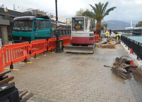 Εργασίες αποκατάσταστης στην παραλία Χαλκίδας