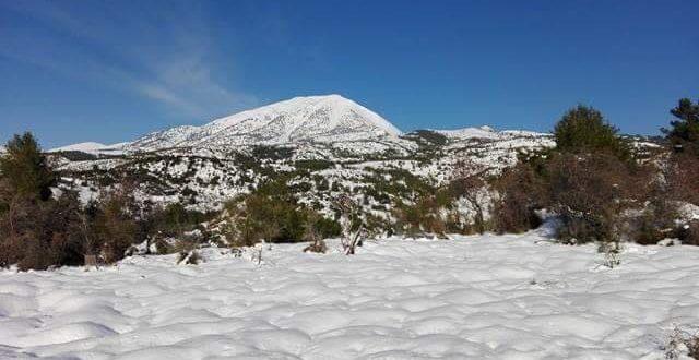 Χαλκίδα: Με χιόνια το πρώτο Σαββατοκύριακο του 2017.