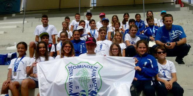Η προαγωνιστική ομάδα του Ν.Ο.Χ. στον «αφρό» της Πανελλήνιας κολύμβησης